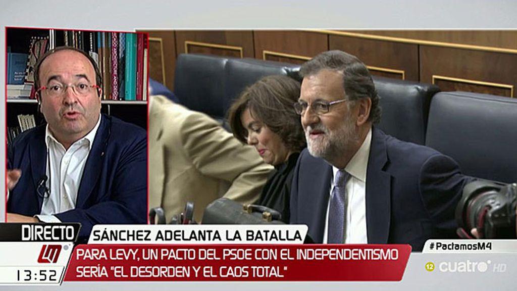 """Iceta contesta a Andrea Levy: """"Queremos tanto a España que queremos apartar al PP"""""""