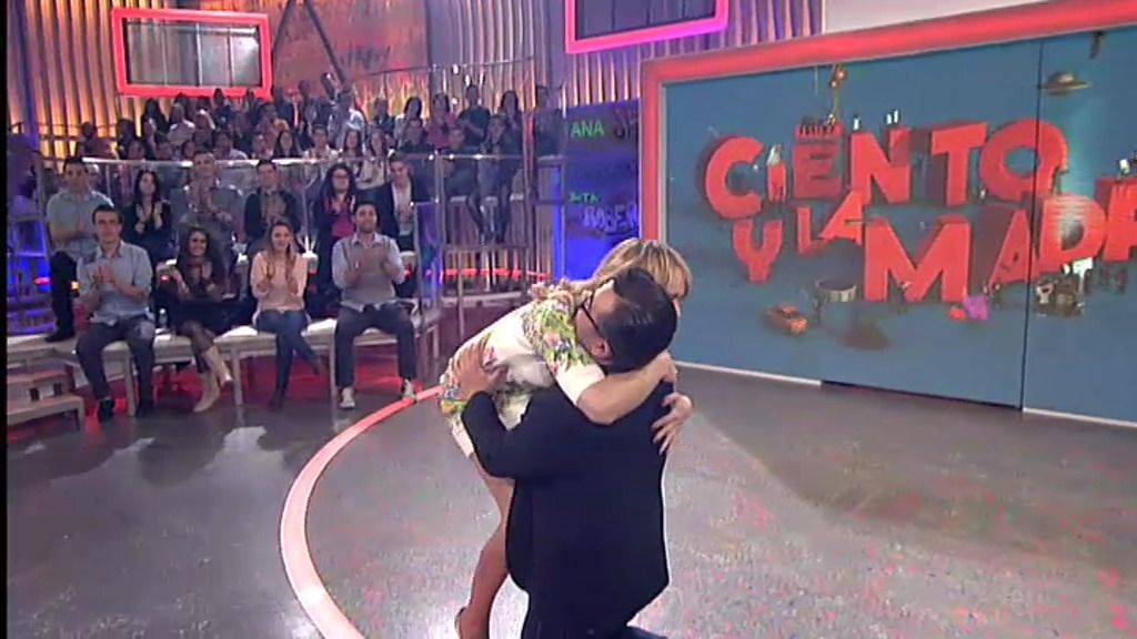 Jorge y Patricia se funden en un gran abrazo