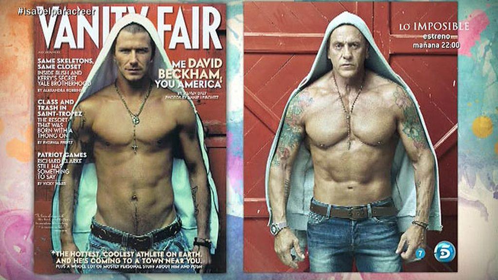 Matamoros, como Beckham en Vanity Fair
