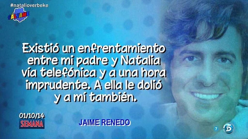 """Jaime Renedo, sobre Natalia Verbeke: """"Lo prudente es darnos un tiempo"""""""