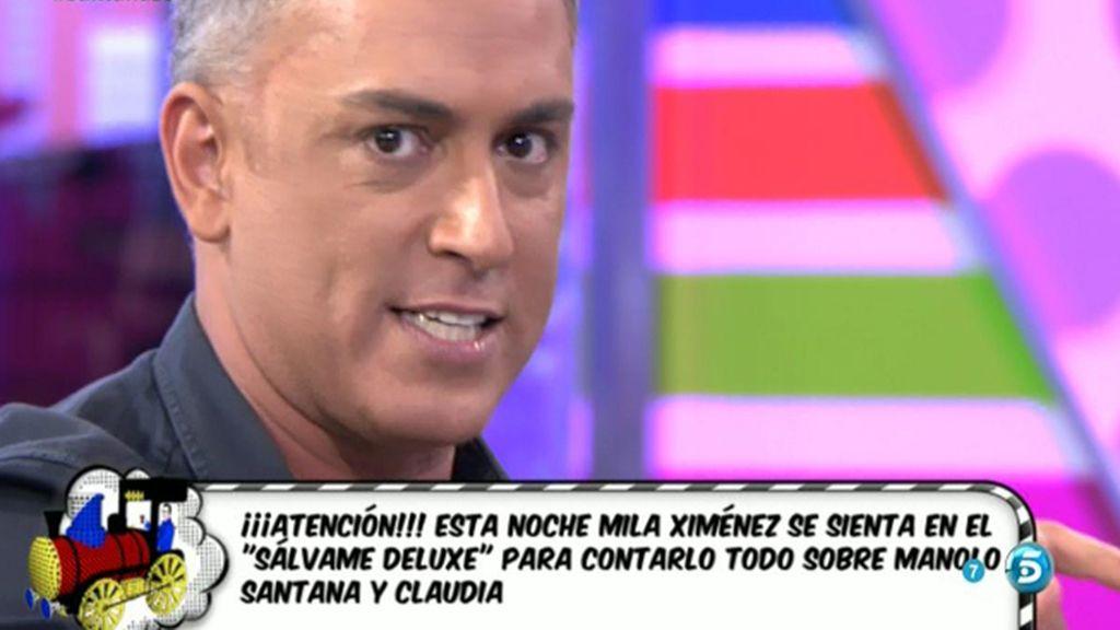 """Kiko Hernández: """"Mila lo va a contar todo sobre Santana en Sálvame Deluxe"""""""