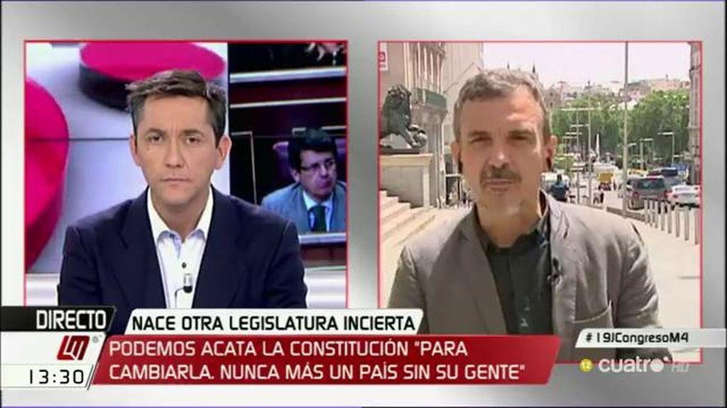 """J.M. López, sobre la fórmula de prometer en el Congreso: """"La diversidad de la sociedad está entrando en la cámara"""""""