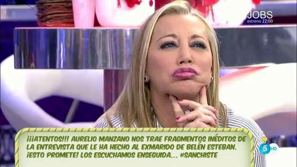 """Belén Esteban: """"He recibido un burofax en el que me piden que no hable de Toño Sanchís"""""""