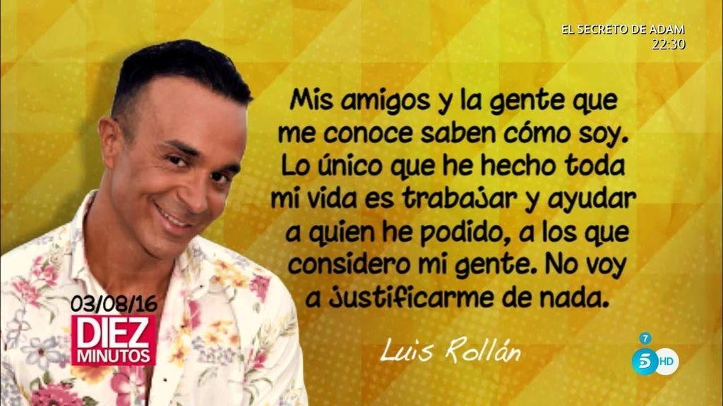 """Luis Rollán se defiende de la polémica: """"¡No he cogido ni un euro!"""""""