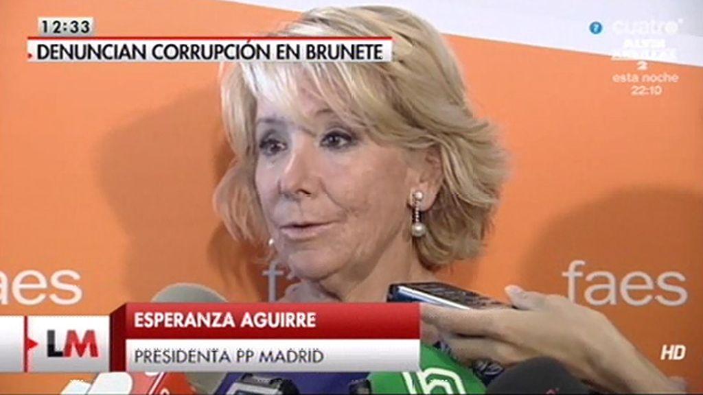 """Aguirre, sobre el alcalde de Brunete: """"Ha negado todo"""""""