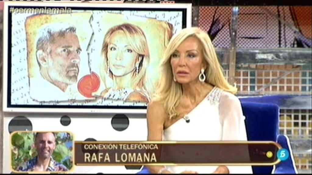 """Rafa Lomana: """"Carmen tendrá que demostrar ante un juez las barbaridades que dice"""""""