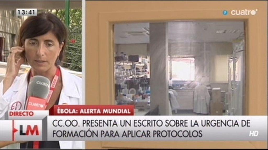CC.OO denuncia fallos en la aplicación del protocolo del Ébola
