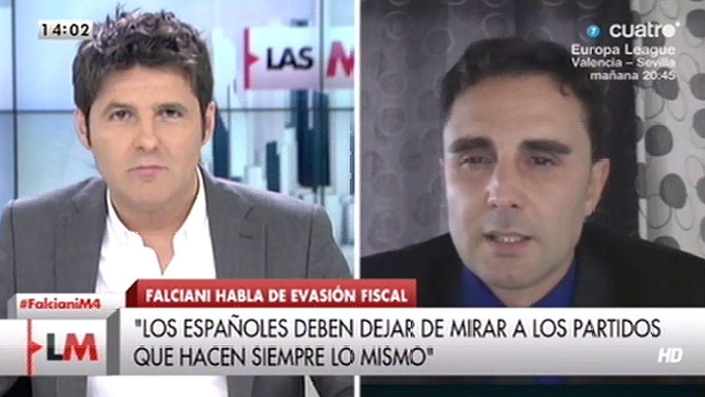 """Hervé Falciani: """"El PP quiere que olvidemos quién es Bárcenas, pero existe"""""""