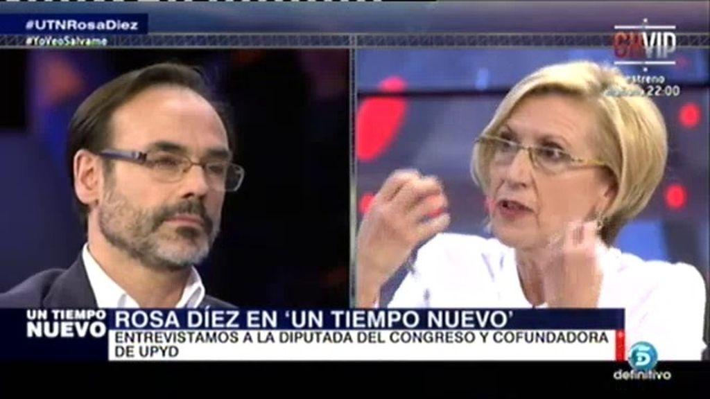 """Rosa Díez: """"Nunca me he beneficiado de nada que no me correspondiera"""""""