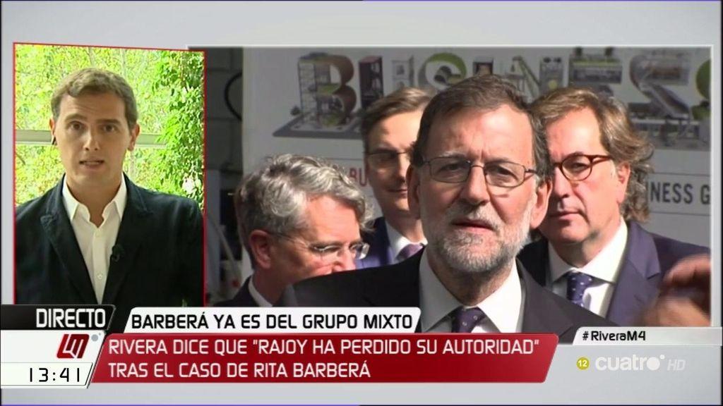 """Albert Rivera: """"No me fío de Rajoy y por eso le exijo cosas, como no me fío de Sánchez y se las exijo"""""""