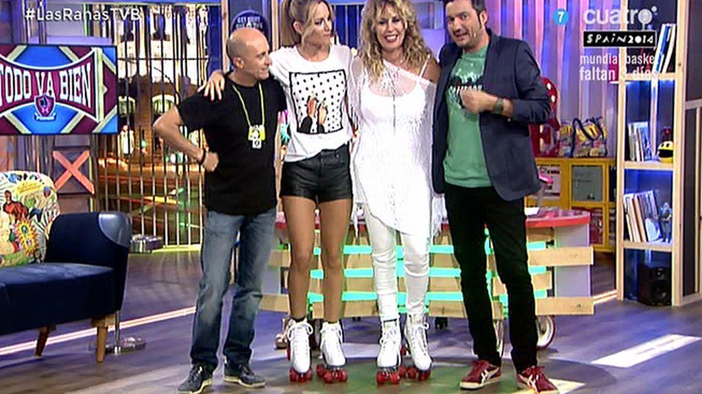 Edurne y Miriam Díaz Aroca , ¡en patines!