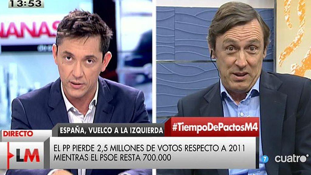 """Rafael Hernando: """"Rajoy está haciendo una gran tarea, sé que ustedes le critican mucho"""""""