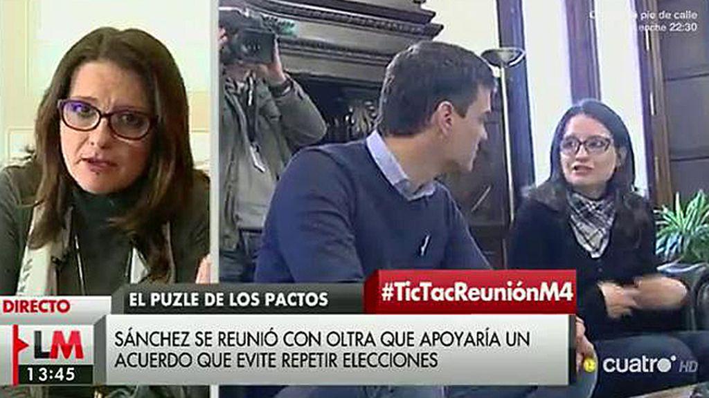 """Mónica Oltra: """"El nuevo Gobierno tiene que tener como núcleo a las izquierdas"""""""