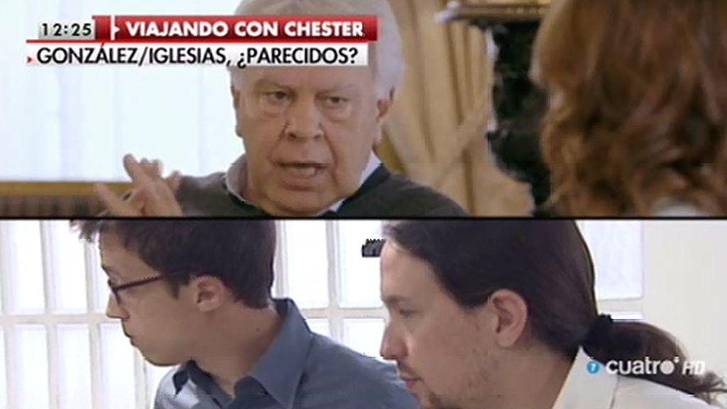 """Pablo Iglesias cree que González y Aznar """"se parecen más que nadie"""""""