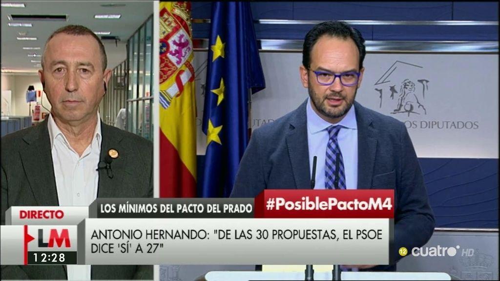 """Baldoví: """"En las tres matizaciones de Hernando, podríamos llegar a un acuerdo"""""""