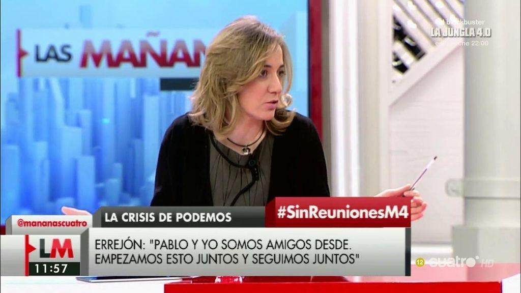 """T. Sánchez, de Podemos: """"Hay discrepancias sanas que no metemos bajo una alfombra"""""""
