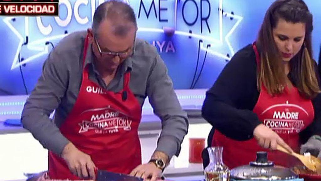 Guillermo, un padre en pánico en la cocina