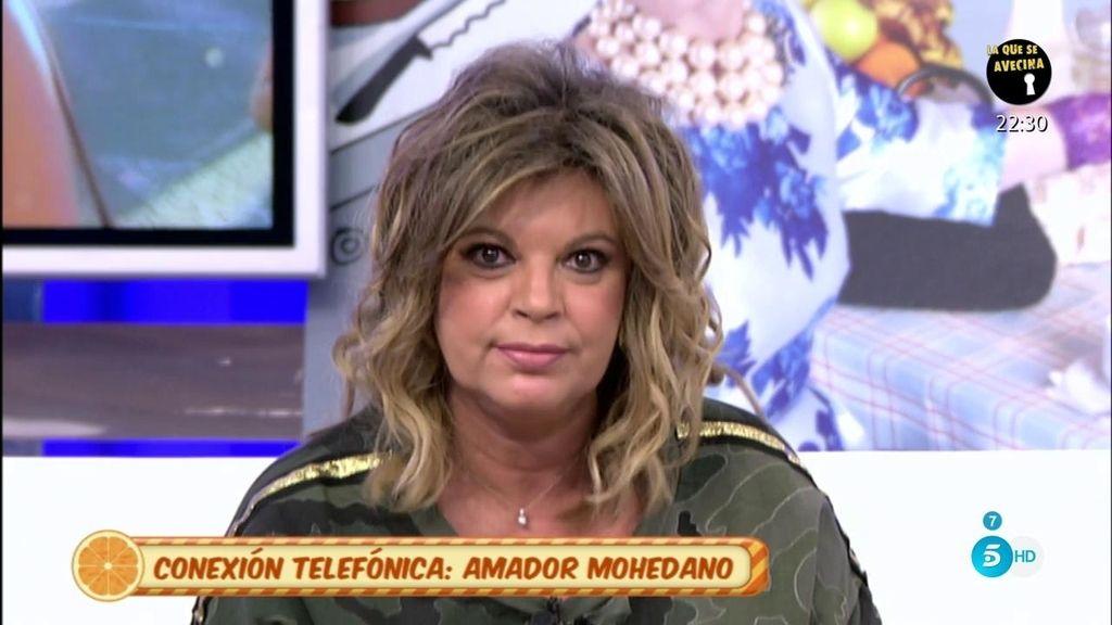 """Terelu, a Amador: """"¿Tú qué sabes lo que yo hablo con Rocío Carrasco?"""""""