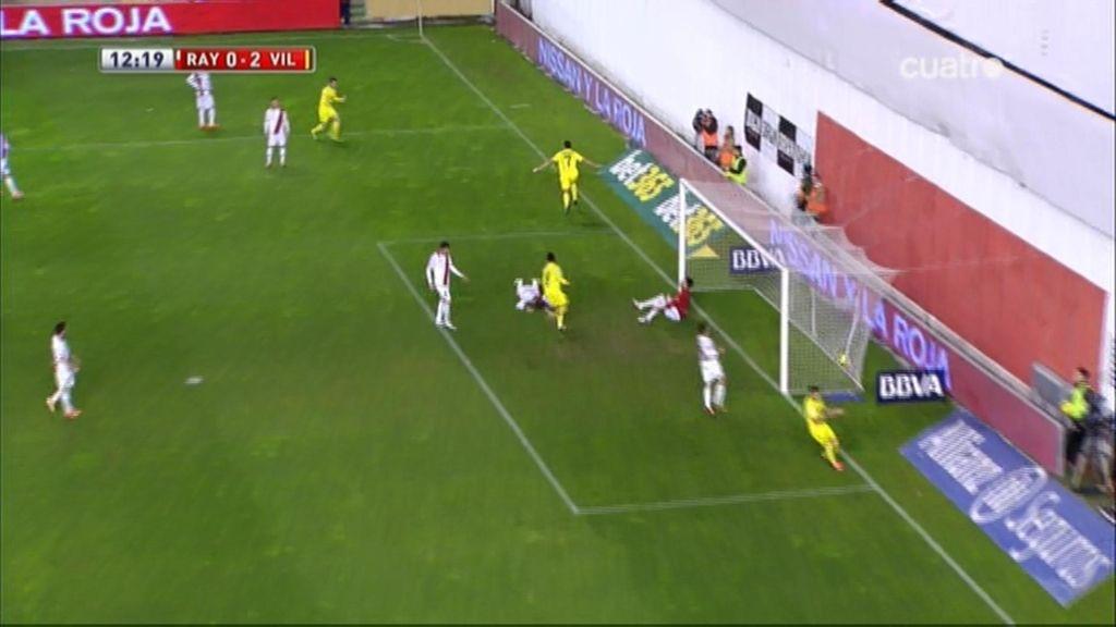 Gol de Perbet (Rayo 0-2 Villarreal)