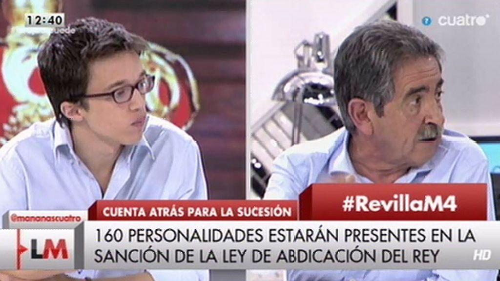 """Miguel Ángel Revilla: """"Un referéndum sobre esta materia no está en el guión"""""""