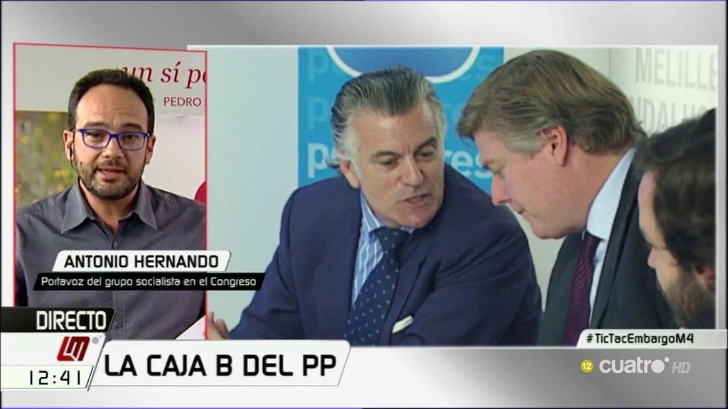 """Antonio Hernando: """"Lo que coincidía con campañas electorales era la financiación ilegal del PP"""""""