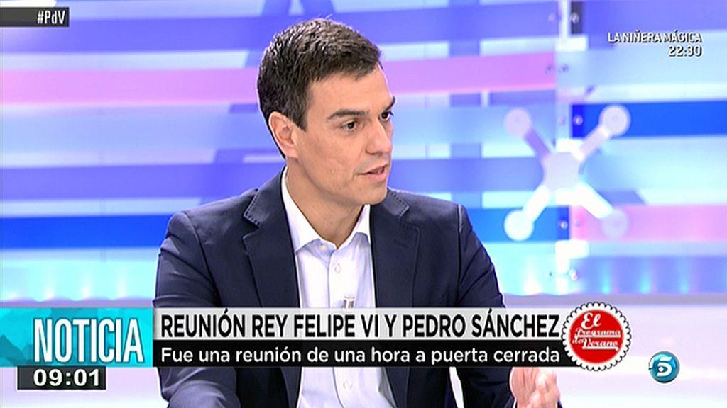 """Pedro Sánchez, sobre su reunión con el Rey: """"Hay una sintonía generacional"""""""