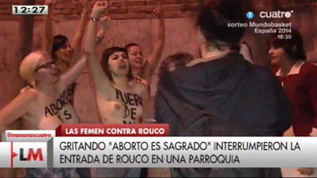 Activistas de FEMEN abodan a Rouco Varela