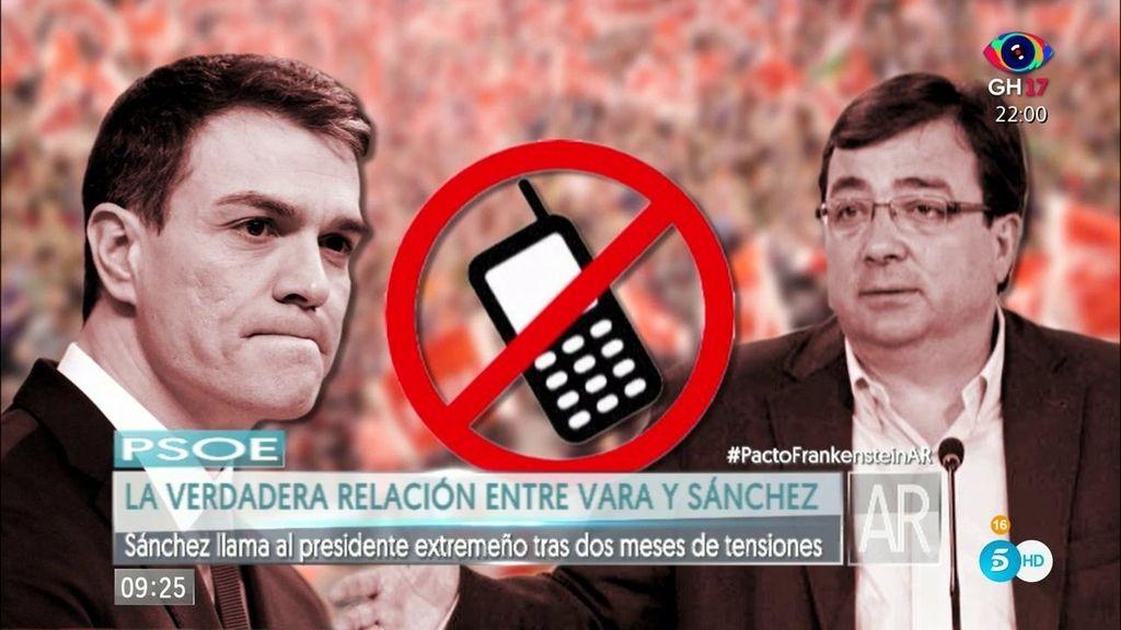 ¿Cómo es la relación de Guillermo Fernández Vara y Pedro Sánchez?