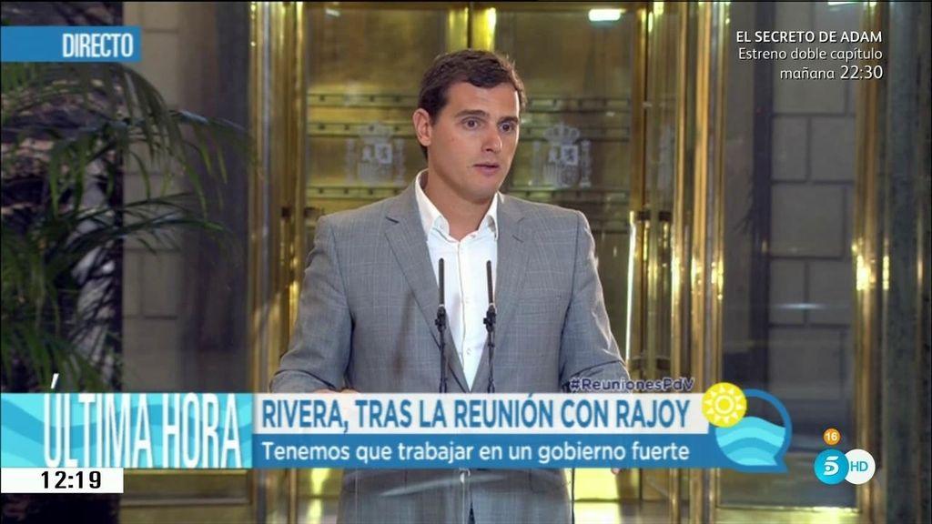 """Albert Rivera: """"Estamos dispuestos a negociar pero con cambios"""""""