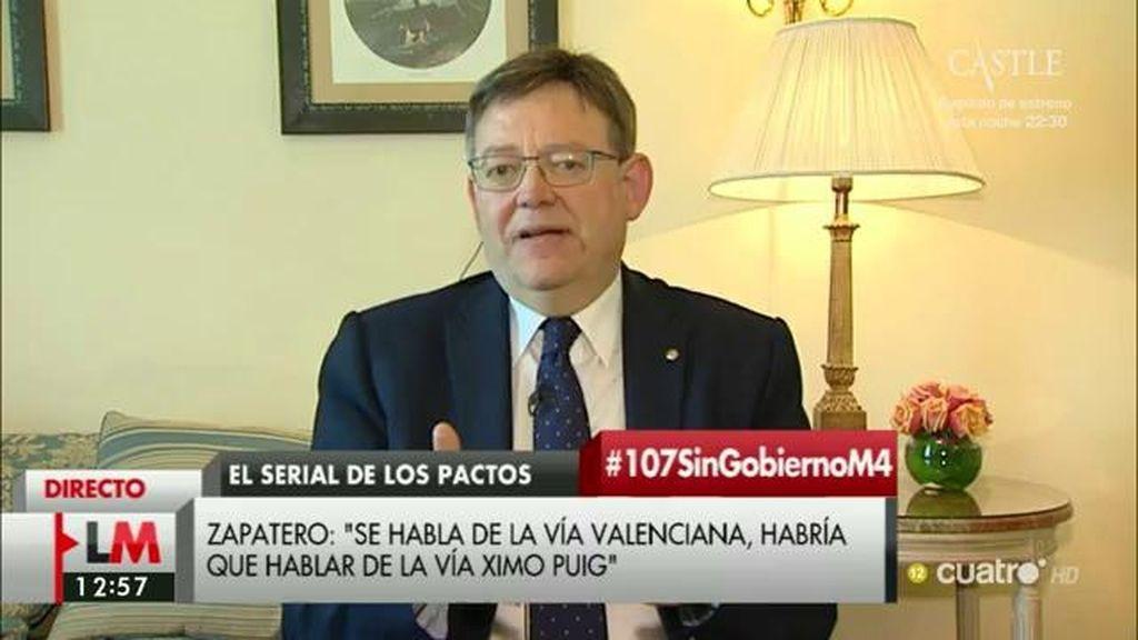 """Ximo Puig: """"La mejor reforma fiscal es atacar y acabar con la economía sumergida"""""""