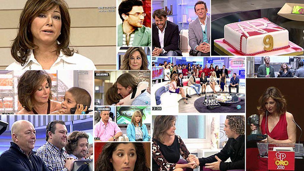 Nueve años de información, exclusivas y éxitos con 'El programa de Ana Rosa'