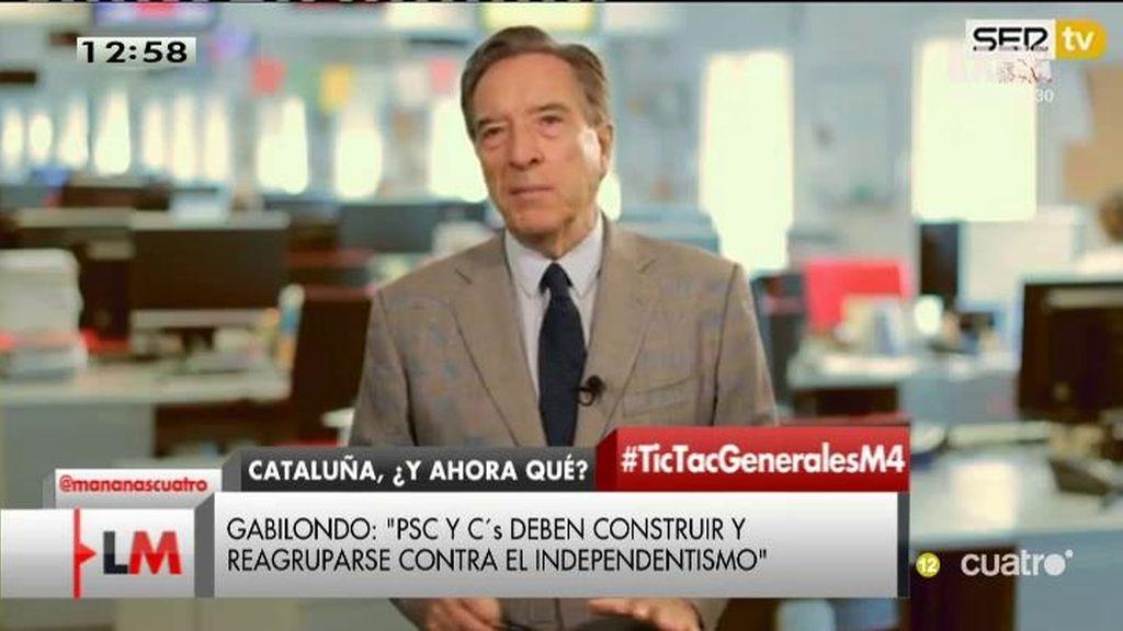 """El análisis de Iñaki Gabilondo: """"La actual Cataluña no cabe en la actual España"""""""