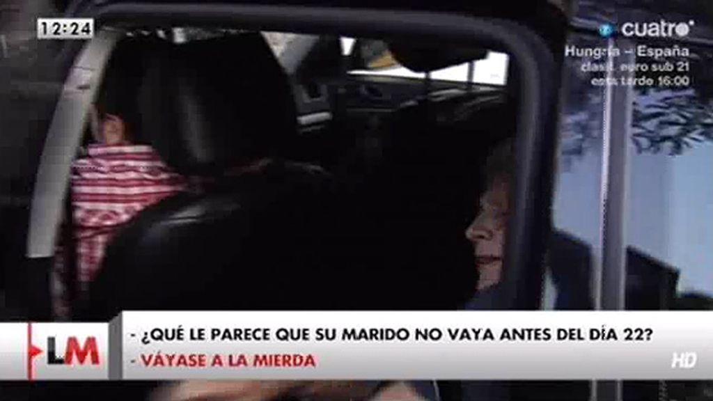 """La mujer de Pujol manda """"a la mierda"""" a un periodista"""