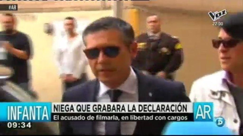 Carvajal, acusado de grabar la declaración de la Infanta, niega que sea el responsable del vídeo