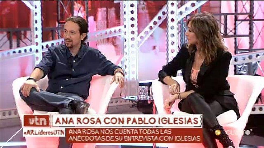 Ana Rosa Quintana nos cuenta todas las anécdotas de su día con Pablo Iglesias