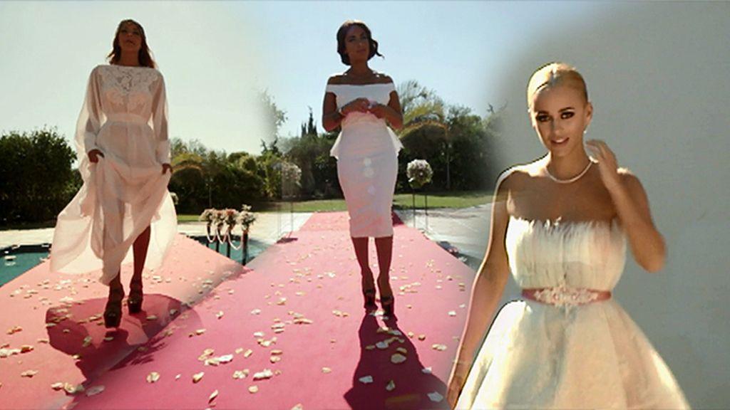 Blancas y radiantes van las princesas