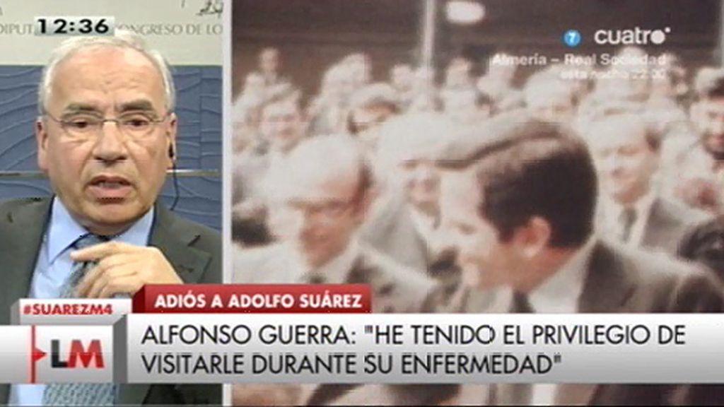 """Alfonso Guerra: """"Siempre he comprendido que el papel de Adolfo fue definitivo"""""""