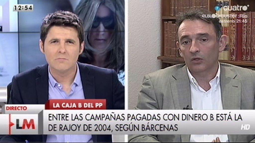 "E. Santiago ""Bárcenas ratifica pagos que han negado destacadas personalidades del PP"""