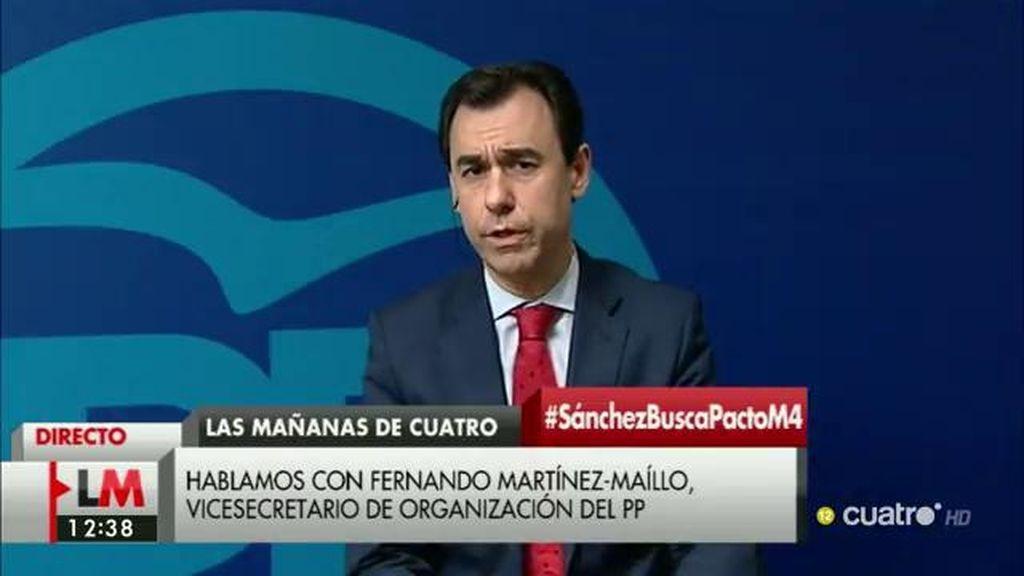 "Fernando Martínez – Maíllo: ""Ojalá el Partido Socialista entre en razón"""