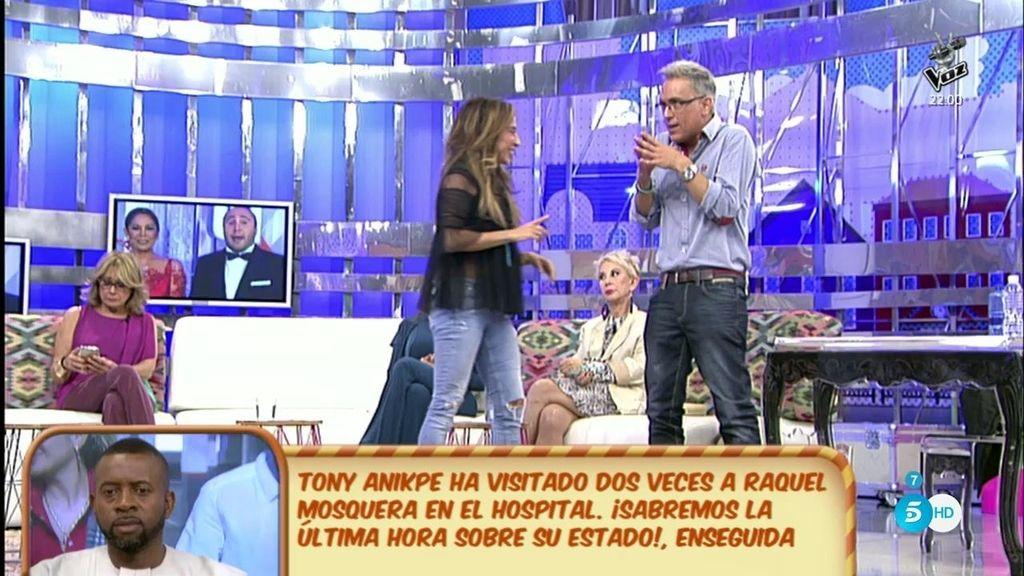 """Kiko Hernández se apuesta con María Patiño """"un jamón ibérico"""""""