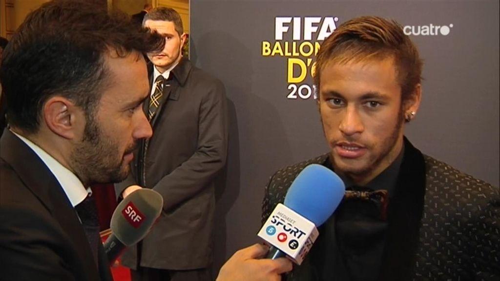 """Neymar: """"Mi apoyo era para Messi pero felicito a Cristiano Ronaldo"""""""