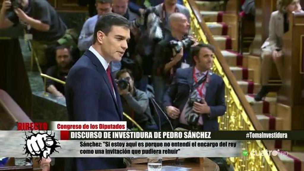 """Pedro Sánchez: """"Una cesión no es una derrota, sino un puente al entendimiento"""""""