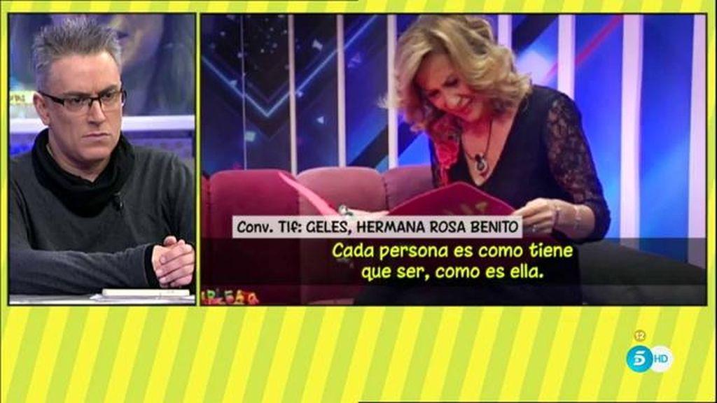 """Geles Benito, del vídeo de cumpleaños de Rosa: """"Yo hubiera llamado para no ponerlo"""""""