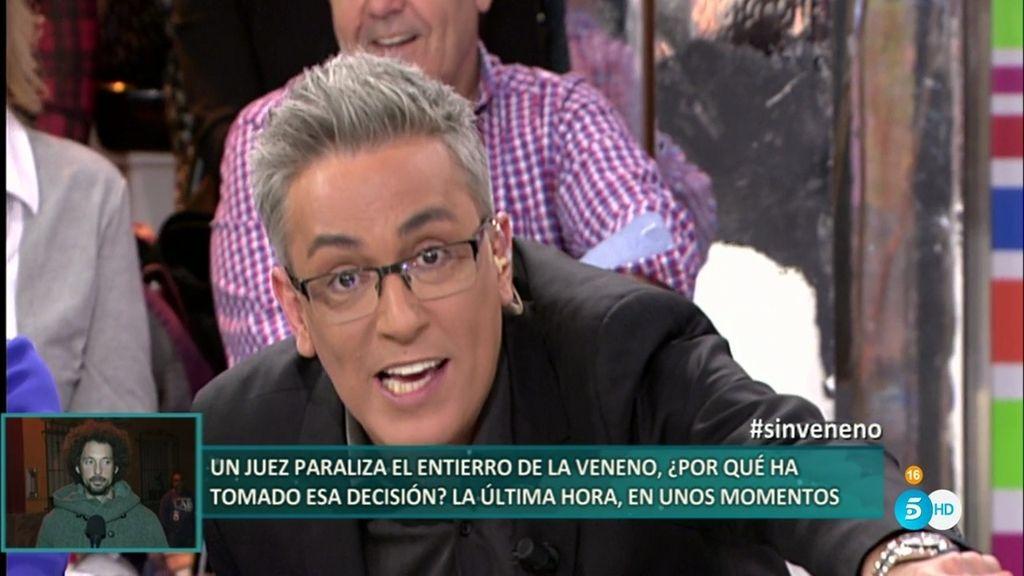 """Kiko Hernández: """"La Veneno' tenía que haberse sentado esta noche en esa silla"""""""