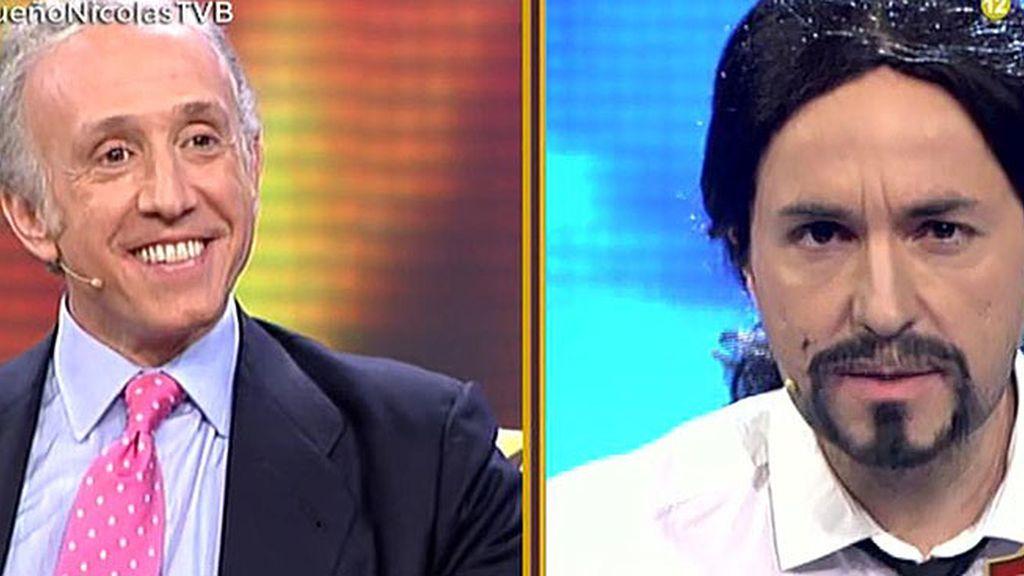 Pablo Iglesias y Eduardo Inda hacen las paces en 'Todo va bien'