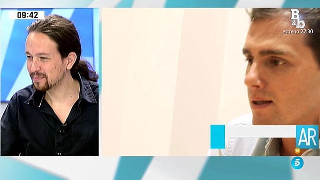 """Pablo Iglesias: """"Ciudadanos es un PP más cool, más limpio"""""""