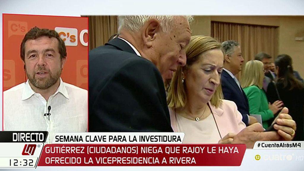 """Miguel Gutiérrez, de Margallo: """"Ya sabemos que a él le gusta hablar de 'naranjitos"""""""