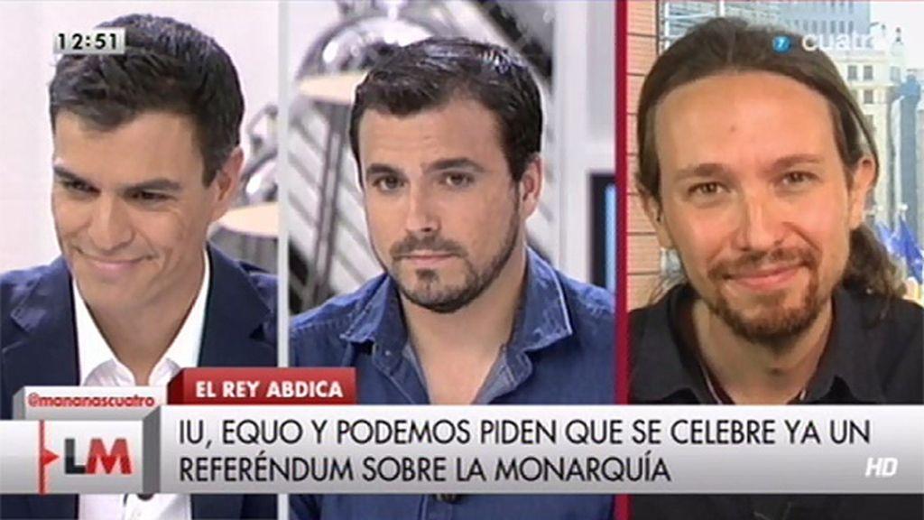 ¿Qué le dirían Pablo Iglesias, Alberto Garzón y Pedro Sánchez al Príncipe Felipe?