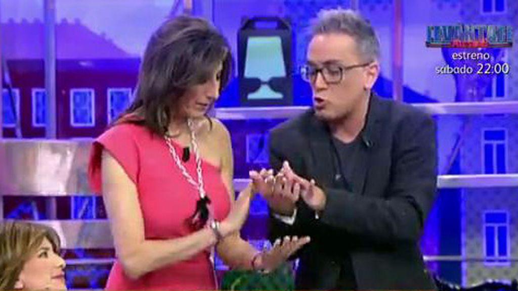 ¿Qué le ha pasado en la mano a K. Hernández?