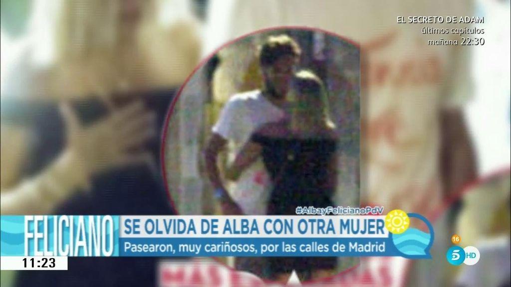 Feliciano y Saray Muñoz, cariñosos y abrazados por las calles de Madrid